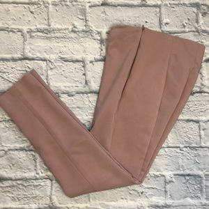 Rachel Zoe mauve side zip cigarette pants
